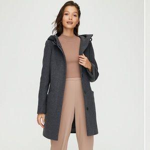 Aritzia Babaton Pearce Wool Coat with hood in grey